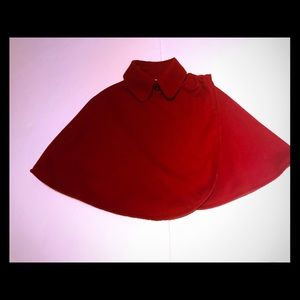 Other - NEW Red Felt-Like Cape Size 3/4